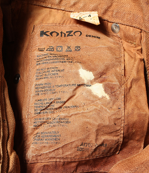 KOHZO DENIM Kozo denim color denim underwear 28W-32L Lady's