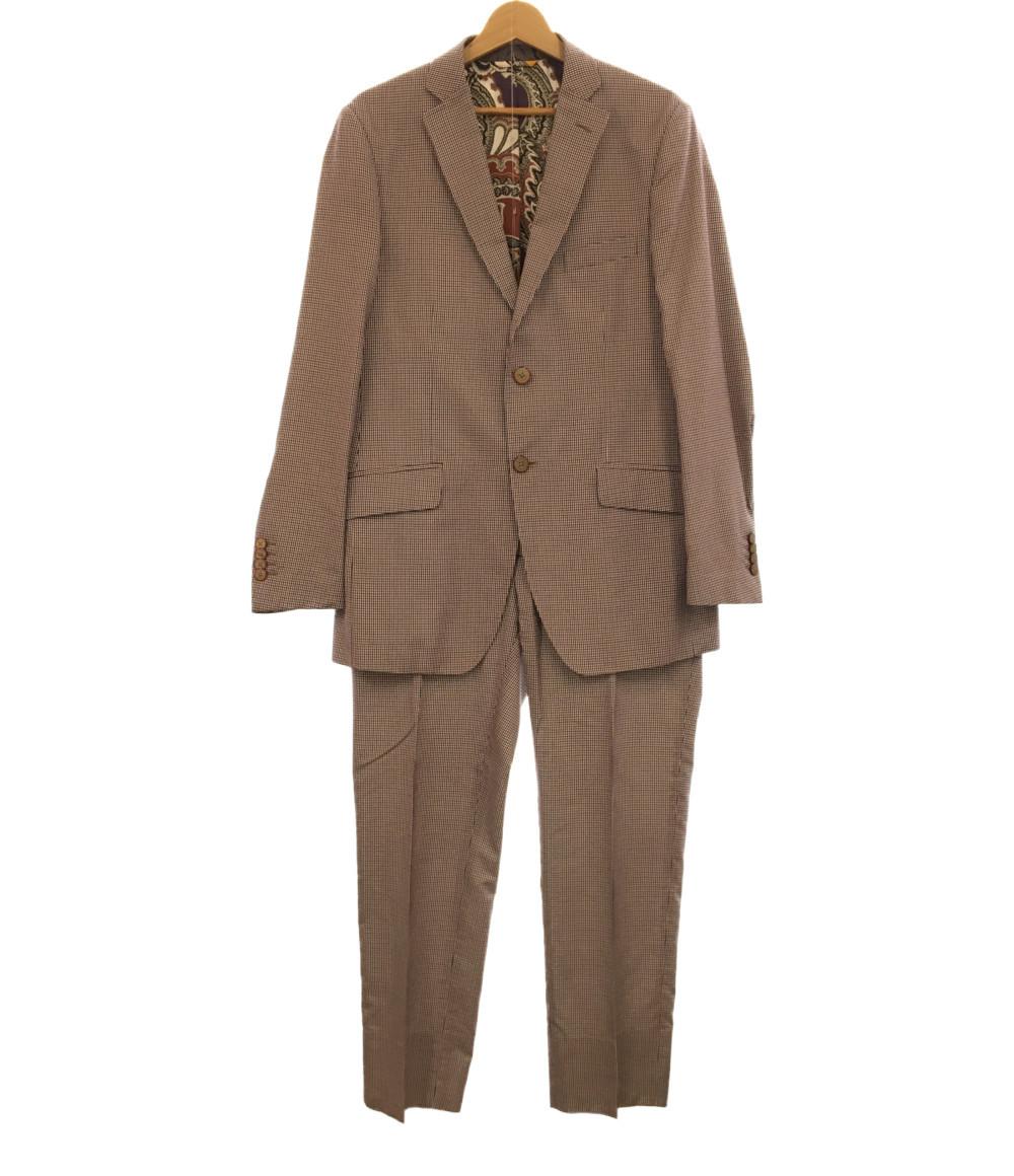 15%OFF 激安通販専門店 送料無料 sale 0810 中古 美品 日本正規代理店品 エトロ スーツ SIZE ETRO XL以上 50 メンズ セットアップ