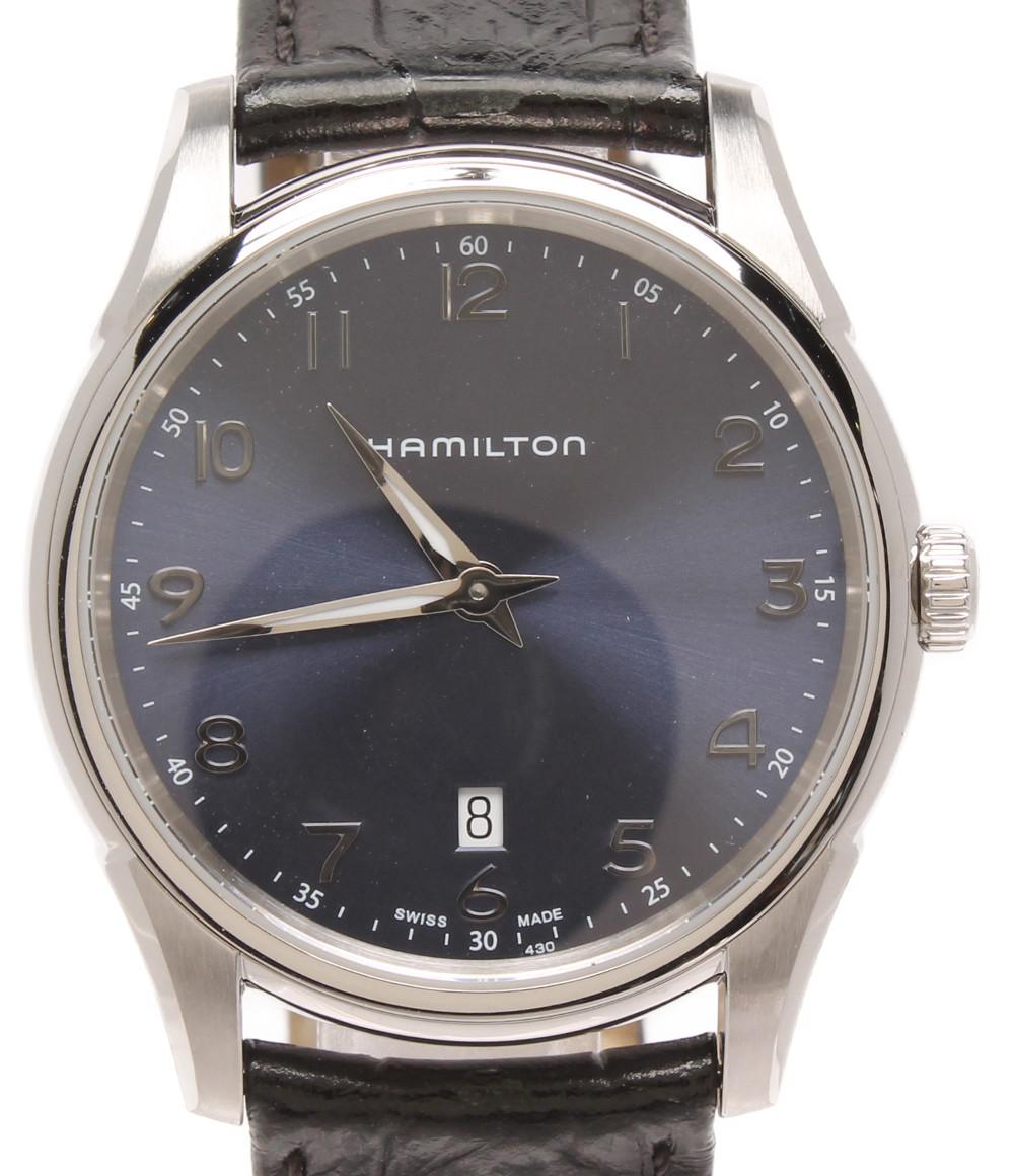 5%OFF 送料無料 海外並行輸入正規品 sale 0709 中古 ハミルトン 腕時計 メンズ H385111 クオーツ HAMILTON ブラック ジャズマスター 限定タイムセール