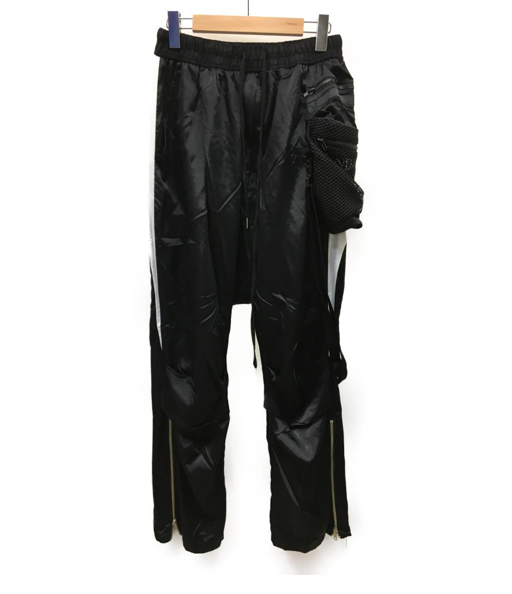※実店舗から直送のため 同梱不可 代金引換不可 ※ 中古 20ss Cross Net Bag Monochrome Drop Crotch SUNDAY 驚きの価格が実現 ブラック デザイン パンツ サルエル L 有名な SIZE OFF CLUB Pants メンズ