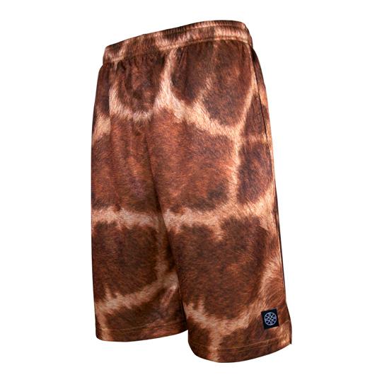 HXB バスパン【Graphic Mesh Pants】Giraffe バスケットボールパンツ バスパン バスケショーツ バスケ バスケットボール キリン柄 動物