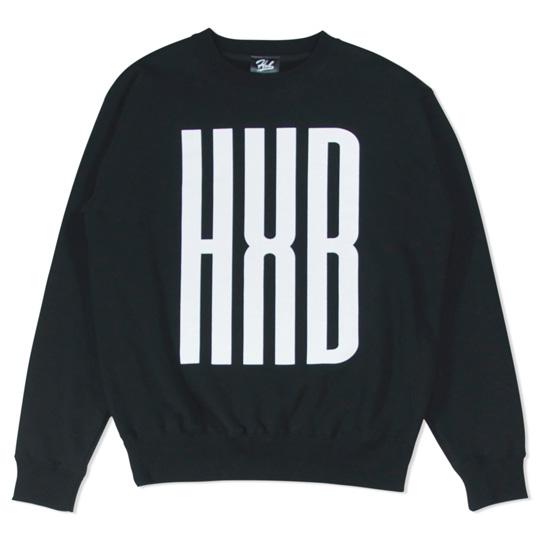HXB SWEAT CREW NECK 【SLENDER】 BLACK バスケットボール トレーナー スウェット ブラック