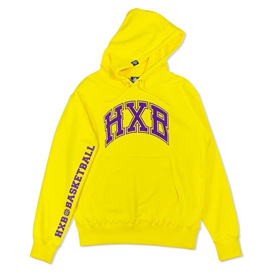 HXB HOODIE 【WARP】 YELLOW×PURPLE バスケットボール スウェット パーカー