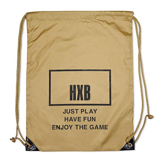 バスケットボールブランド メーカー在庫限り品 HXB エイチエックスビー KnapSack THE BOARD ナップサック KHAKI 新品 送料無料 バスケットボール BLACK