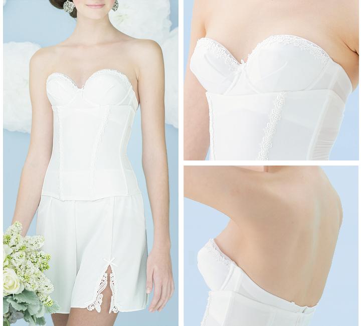 Bridal lingerie 4-piece set/Bras & West Nipper & flare & shorts (simple Lux) / bridal inner set wedding winner dress lingerie dress inner