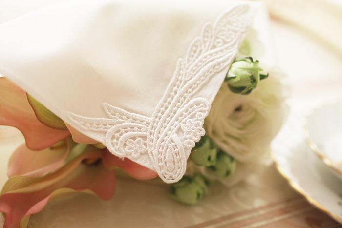 Bridal Inner Hugge Bridal Handkerchief Noble 2 Piece Set For