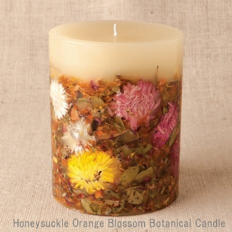 Rosy Rings ロージーリングス Botanical candle キャンドル ハニーサックル オレンジブロッサム Big Round