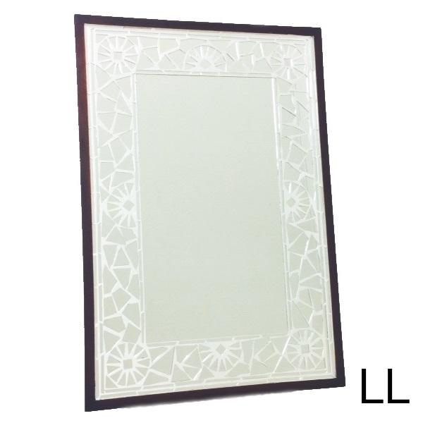 HUGオリジナル Mosaic Mirror モザイクミラー シルバー LL インテリア・寝具・収納 鏡 鏡 壁掛け 角型