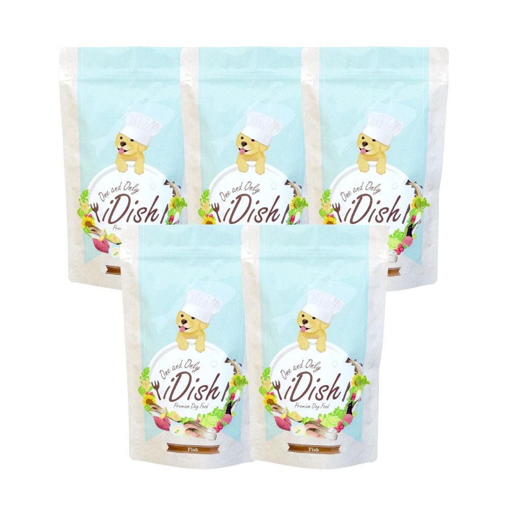 買い物 iDish-フィッシュ- プレミアムドッグフード 5袋セット 送料無料 公式 チキンアレルギー対応 全年齢 モリンガ 完全無添加 全犬種 乳酸菌 セール特価 国産 ヒューマングレード