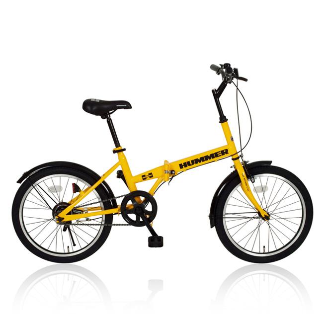 20インチ 折りたたみ自転車 HUMMER(ハマー) FDB20 MG-HM20R イエロー [直送品]