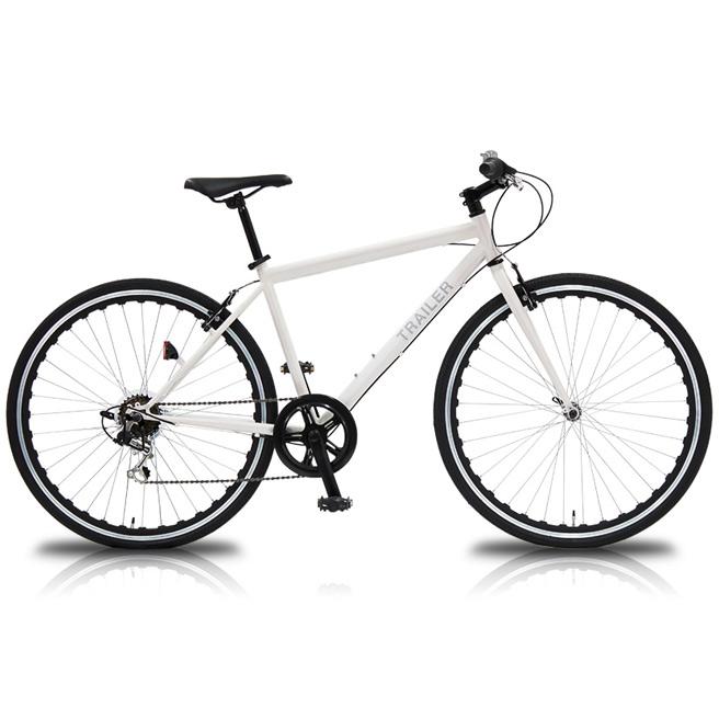 700C クロスバイク TRAILER TR-C7003 6段変速 【送料無料 一部組立 自転車 ホワイト ブラック ピンク 仏式バルブ】 [直送品]