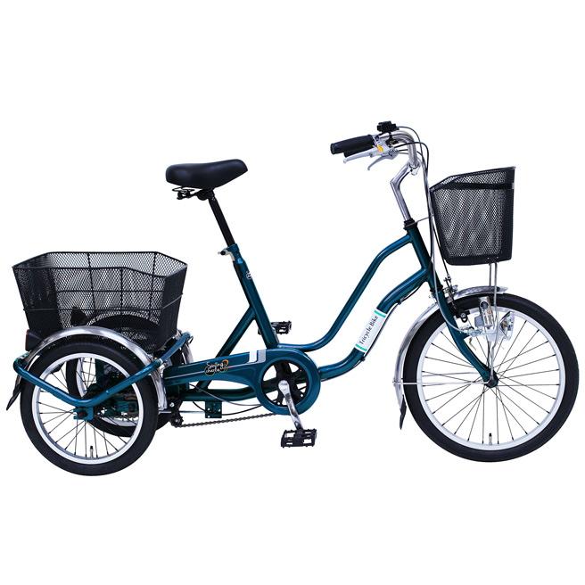 三輪 自転車 MIMUGO MG-TRW20E SWING CHARLIE 三輪自転車 20インチ三輪自転車 ティールグリーン [直送品]