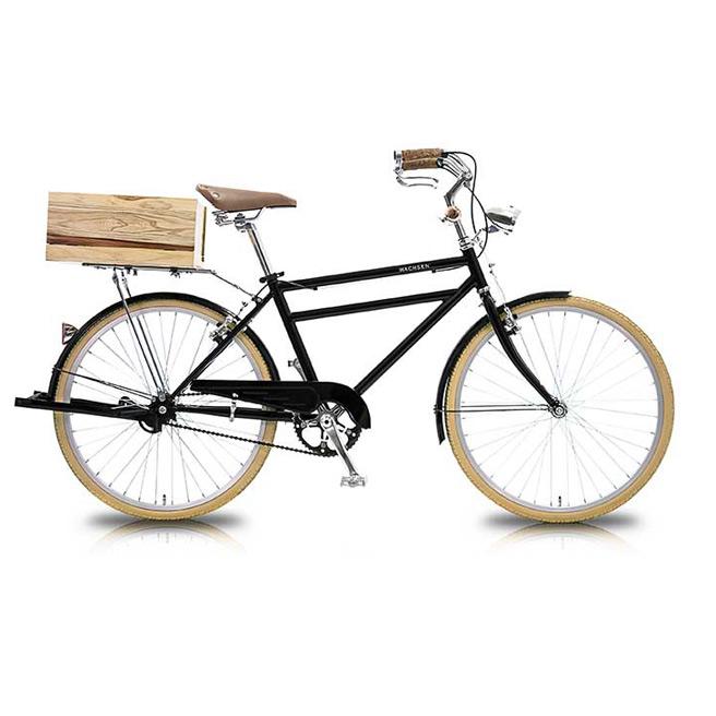 24インチ 自転車 Klein(クライン) WGC-2401 WACHSEN 【 デザイン おしゃれ 男女兼用 24インチシティバイク シティーバイク ご近所 チャリ ブラック 】 [直送品]