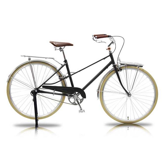 700C シティバイク Straat(ストラートゥ) 街乗り自転車 WGC-7002 WACHSEN 【 デザイン おしゃれ 男女兼用 700Cシティバイク シティーバイク ご近所 チャリ ゴールド グレー】 [直送品]