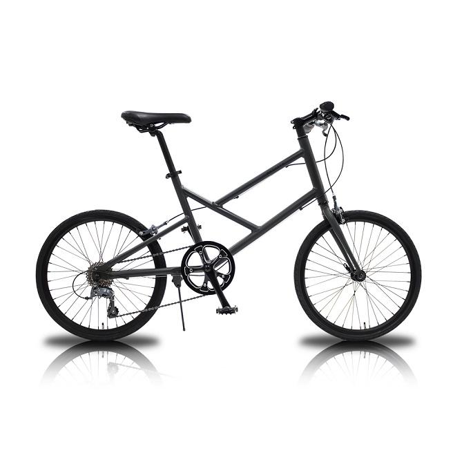 WACHSEN Nacht アルミミニベロ 8段変速 20インチ 自転車 WBV-2001 マットブラックグレー 【 ヴァクセン ナハト マットブラック アルミフレーム 軽量 レディース メンズ 】 [直送品]