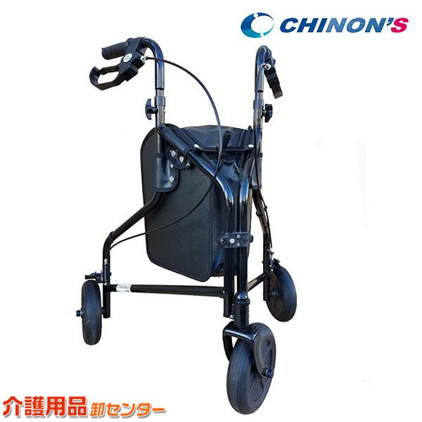 【チノンズ 三輪歩行車 ターンウォーカー】折りたたみ スチール製 送料無料