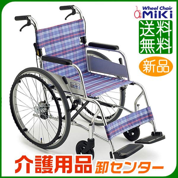 車椅子 軽量 折り畳み 【MiKi/ミキ Light(ライト)ニューライト M-43SK SP】 自走介助兼用 車いす 車椅子 車イス コンパクト車椅子 送料無料