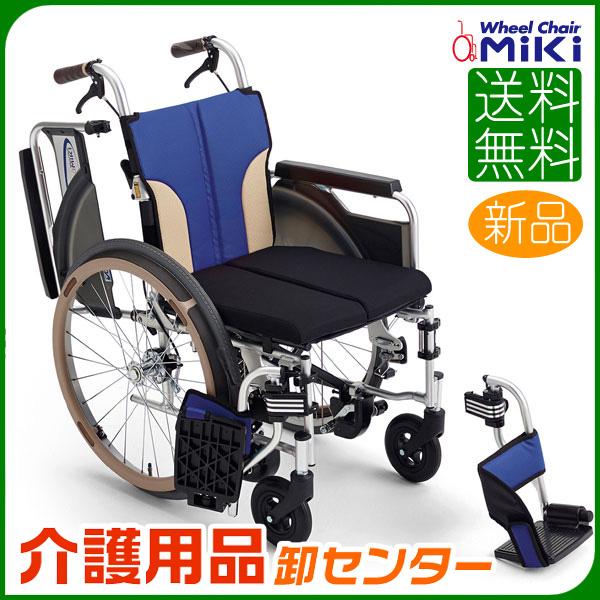 車椅子 折り畳み 【MiKi/ミキ Skit(スキット) SKT-400B】 自走介助兼用 車いす 車イス くるまいす とまっティシリーズ 自動ブレーキ コンパクト車椅子 送料無料