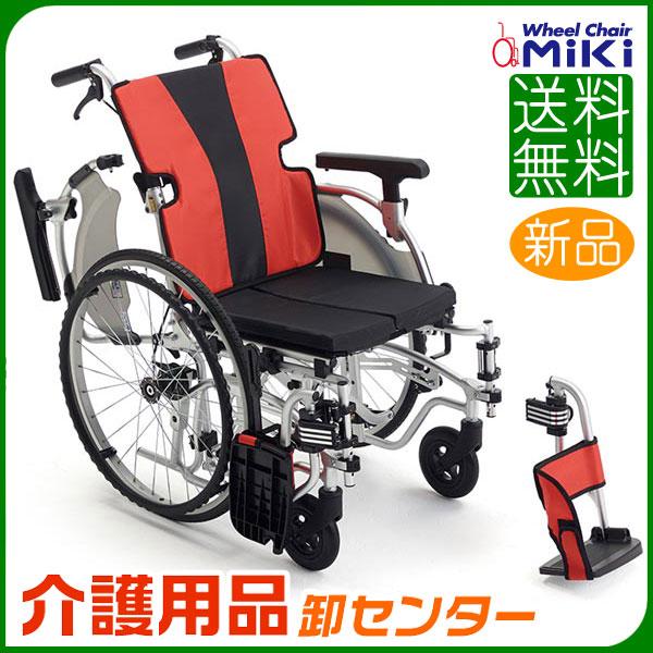 車椅子 軽量 折り畳み 【MiKi/ミキ MEFシリーズ MEF-22】軽量 工具1本で調節可能なモジュールタイプ 自走介助兼用 車いす 車イス くるまいす アルミ製 送料無料 介助用 介護用品 軽量車椅子 プレゼント 折りたたみ 高齢者 老人ホーム 病院 おしゃれ 介護施設 福祉用具