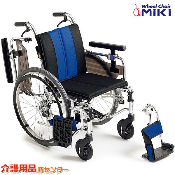 車椅子 折り畳み 【MiKi/ミキ MYU4シリーズ MYU4-22】 自走介助兼用 車いす 車椅子 車イス 多機能 脚部スイングアウト 送料無料