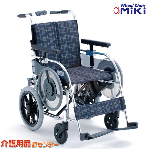 車椅子 折り畳み 【MiKi/ミキ MB-43N】 自走式 車いす 車椅子 車イス ベルト駆動 送料無料