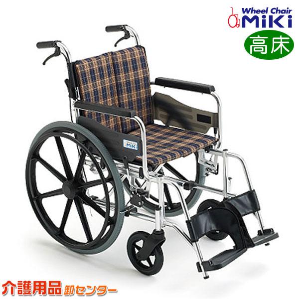 車椅子 折り畳み【MiKi/ミキ KJP-2H】自走式 車いす 車イス ワイド【送料無料】|介護用品 お年寄り プレゼント 折りたたみ 高齢者 老人ホーム 病院 おしゃれ 介護施設 福祉用具 自走式車椅子 自走式車いす