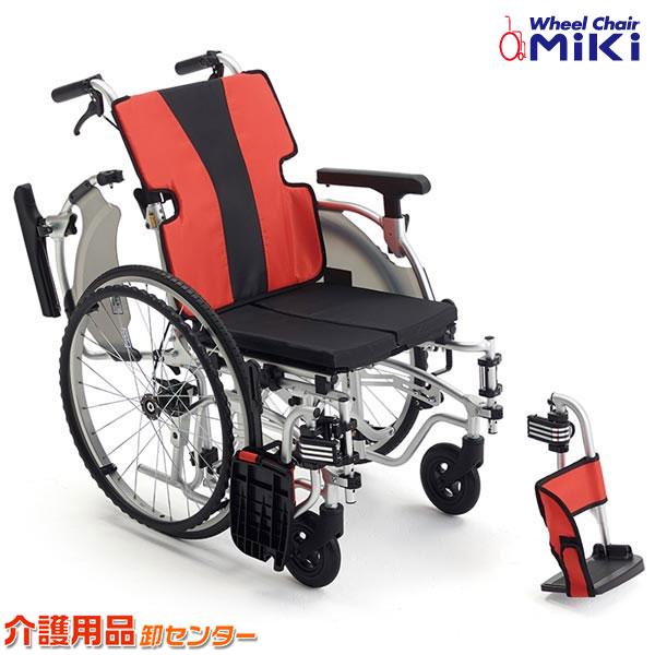 車椅子 軽量 折り畳み 【MiKi/ミキ MEFシリーズ MEF-22】軽量 工具1本で調節可能なモジュールタイプ 自走介助兼用 車いす 車イス くるまいす アルミ製 送料無料 介助用 介護用品 軽量車椅子 折りたたみ おしゃれ 介護施設