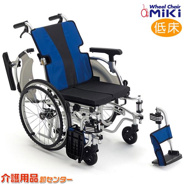 車椅子 軽量 折り畳み 【MiKi/ミキ MEFシリーズ MEF-20】軽量 工具1本で調節可能なモジュールタイプ 自走介助兼用 低床 車いす 車イス くるまいす アルミ製 送料無料 介助用 介護用品 軽量車椅子 折りたたみ 病院 おしゃれ 介護施設 福祉用具