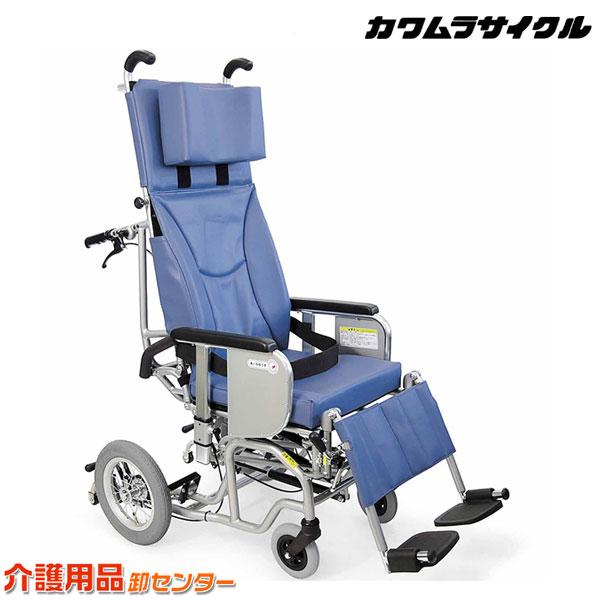 車椅子 折り畳み 【カワムラサイクル ティルト&フルリクライニング AYK-40】 介助式 脚部エレベーティング&スイングアウト 車いす 車椅子 車イス カワムラ 車椅子 送料無料