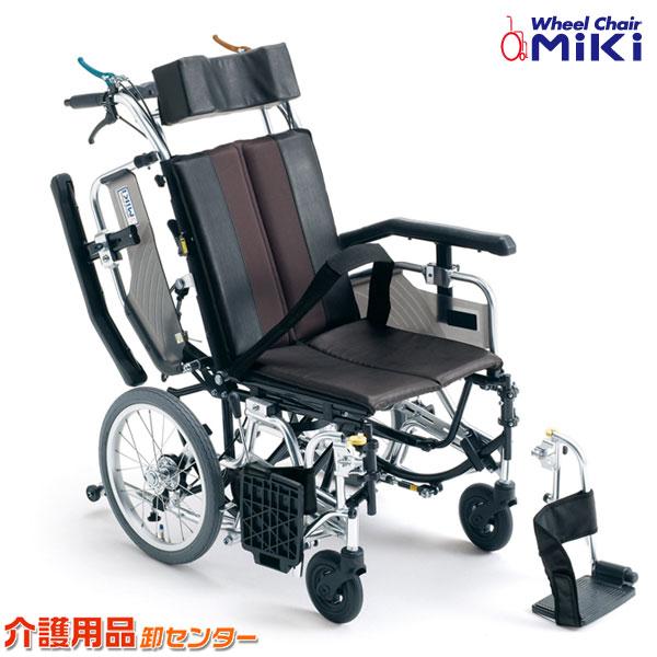車椅子 折り畳み 【MiKi/ミキ TRシリーズ TRC-1】 介助式 ティルト&リクライニング車いす 車椅子 車イス 多機能 送料無料