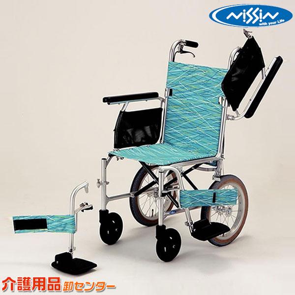 車椅子 軽量 折り畳み 【日進医療器 スーパー軽量シリーズ 軽7W NAH-L7W】 介助式 車いす 車椅子 車イス 送料無料