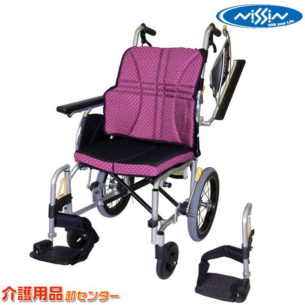 車椅子 折り畳み 【日進医療器 ウルトラシリーズ 多機能型介助用 NAH-U2W】 介助式 軽量 多機能 車いす 車椅子 車イス