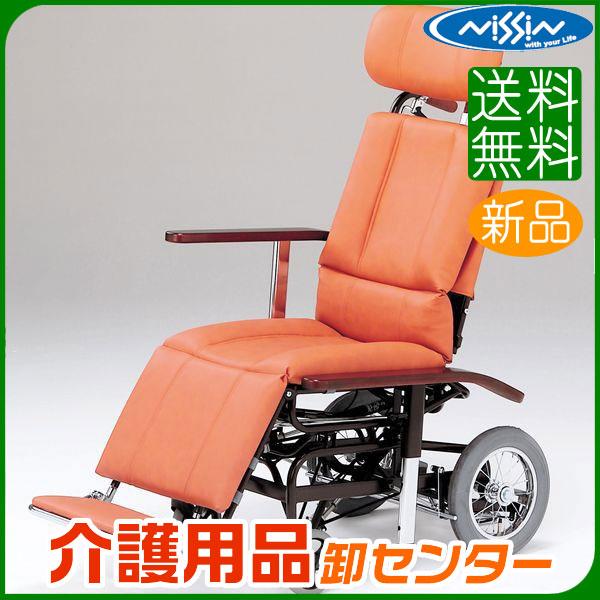車椅子 【日進医療器 ティルト&フルリクライニング NHR-7シリーズ NHR-7】 介助式 車いす 車椅子 車イス スチール製 送料無料