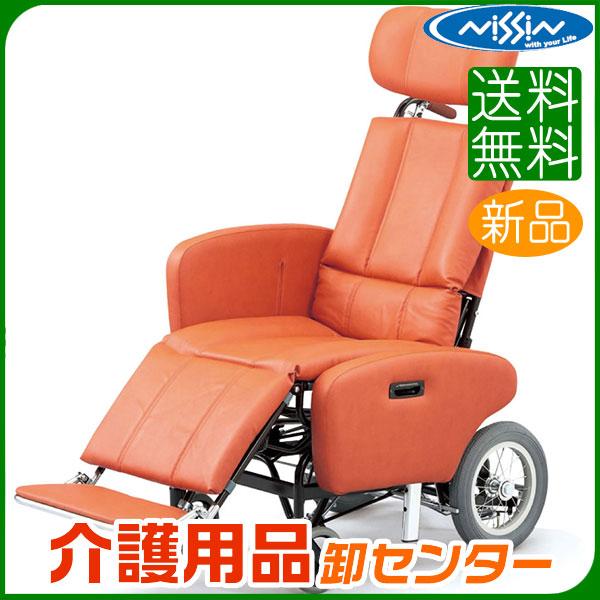 車椅子 【日進医療器 ティルト&フルリクライニング NHR-7シリーズ NHR-7B】 介助式 車いす 車椅子 車イス スチール製 送料無料