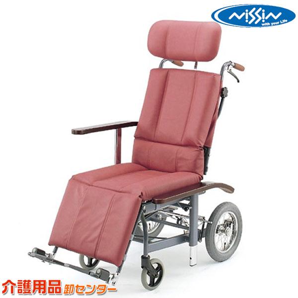 車椅子 【日進医療器 リクライニング NHR-12】 介助式 車いす 車椅子 車イス スチール製 送料無料