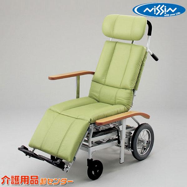 車椅子 日進医療器 リクライニング NHR-15 介助式 車いす 車椅子 車イス スチール製 送料無料 米寿祝 卒業祝 白寿祝 出産内祝