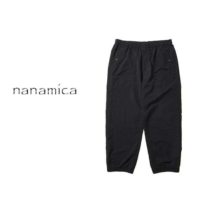 ・nanamica(ナナミカ)メンズ アルファ ドライ イージーパンツ/ブラック/ nanamica/ALPHADRY Easy Pants/Black #パンツ シンプル