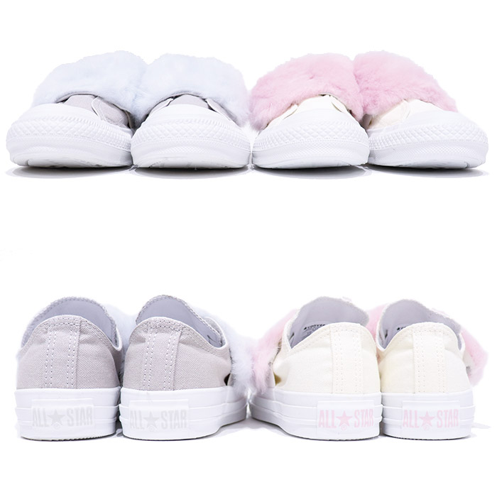 Model zipper Taylor leather low-frequency cut commuting sneakers sneaker of  the 100th anniversary of converse (Converse) ALL STAR PASTELFUR SLIP OX