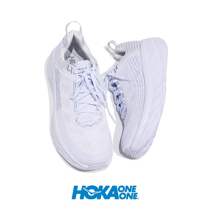 HOKA one one (ホカオネオネ) Ms Bondi6 WHITE 1019269(メンズ ボンダイ6)正規販売店  スニーカー ナイト ランニング シューズ 軽量 トレーニング マラソン hoka oneone ダッド ホカオネオネ