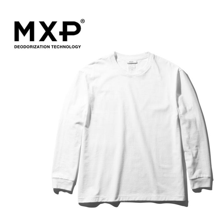 ・MXP(エムエックスピー)メンズ ミディアムドライジャージ ロングスリーブ クルー/ブラック/ MXP/L/s Crew (MDJ)/K #ロンT 消臭 マキシフレッシュ