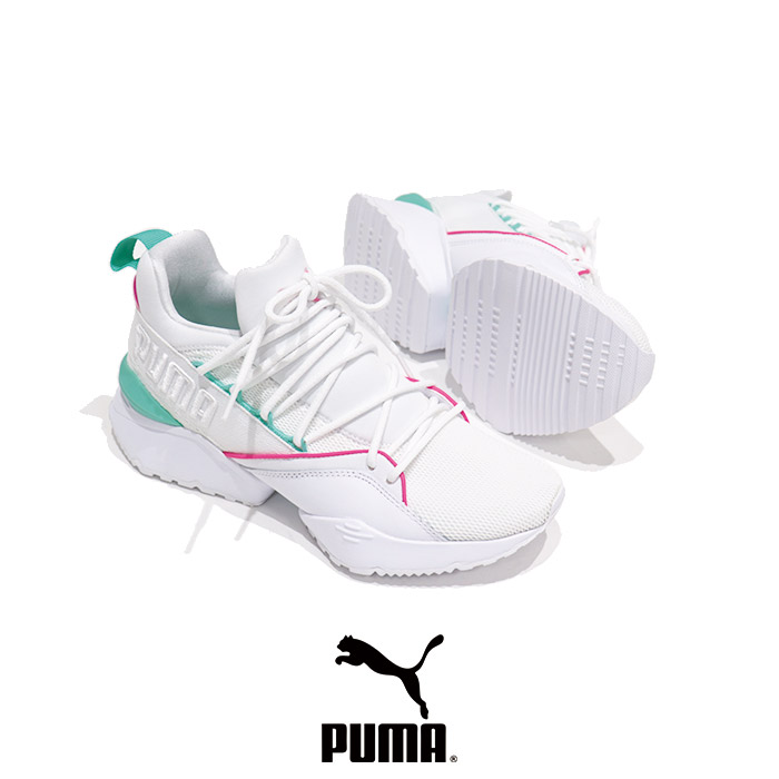 PUMA(プーマ) MUSE MAIA STREET1 WMS(ミューズ マイア ストリート1 ウィメンズ)レディース 厚底 通勤 正規販売店  スニーカー  sneaker