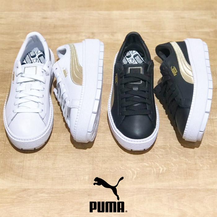 PUMA(プーマ) Ws PLATFORM TRACE VARSITY(ウィメンズ プラットフォーム トレース バーシティ)レディース 厚底 通勤 正規販売店  スニーカー  sneaker