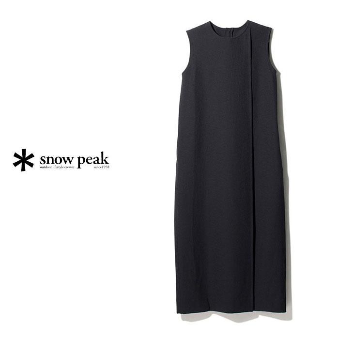 ・SNOW PEAK(スノー ピーク)レディース ブリーザブル ソフト ドレス/ブラック/ SNOW PEAK/Breathable Soft Dress - WEAR/Black #ドレス アウトドア 吸水速乾