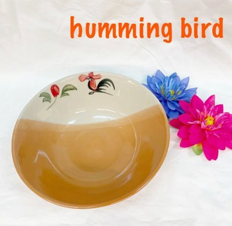 タイで有名なにわとり皿シリーズ☆ にわとり 登場大人気アイテム どんぶり オレンジ アジアン雑貨 公式サイト 可愛い食器 エスニック