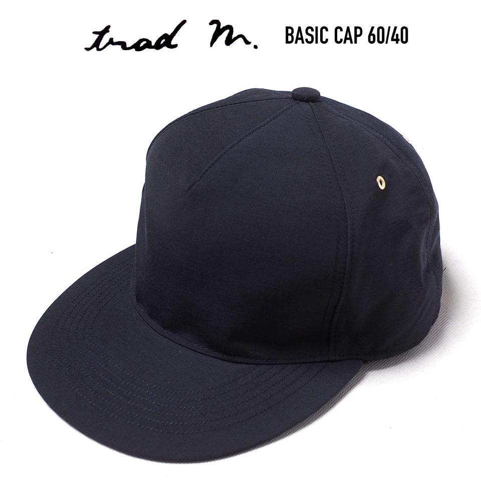 期間限定今なら送料無料 正規取扱 60 至高 40 ロクヨン 帽子 アジャスター TRAD BASIC CAP NAVY トラッドマークス ベースボールキャップ MARKS