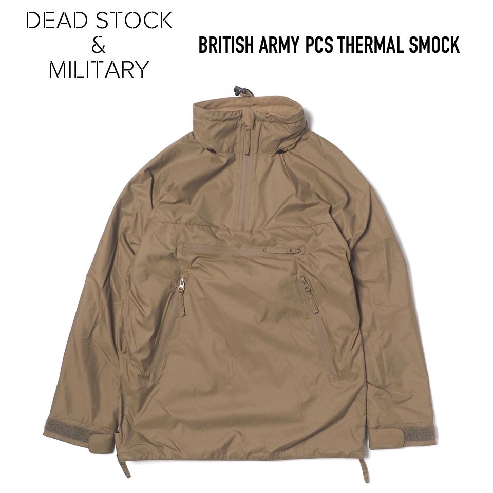 DEAD STOCK デッドストック BRITISH オンライン限定商品 ARMY イギリス軍 PCS THERMAL プルオーバージャケット スモック SMOCK KHAKI パッカブル 商店 中綿