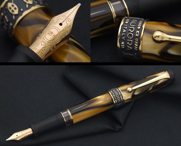 非常罕见的限量版原包装盒与 ! 限量版土地的非洲钢笔 18k 黄金品牌新米 (罗马字) No.5805