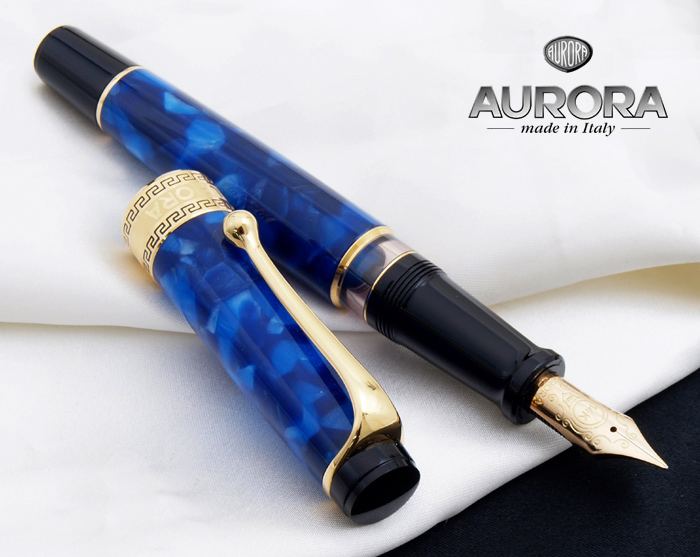 29877a6e073 J Optima 1930 reprint of the dawn! Fountain pen Green   Blue   Burgundy    Black Pearl reserve tank with piston intake system アウロロイド (Aurora resin) ...