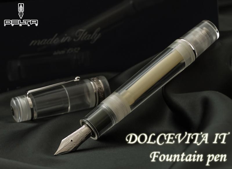 Dolce Vita 它示威者钢笔/m (罗马字) 14 美丽的身体的钱 botanfiler 公式银和明确树脂