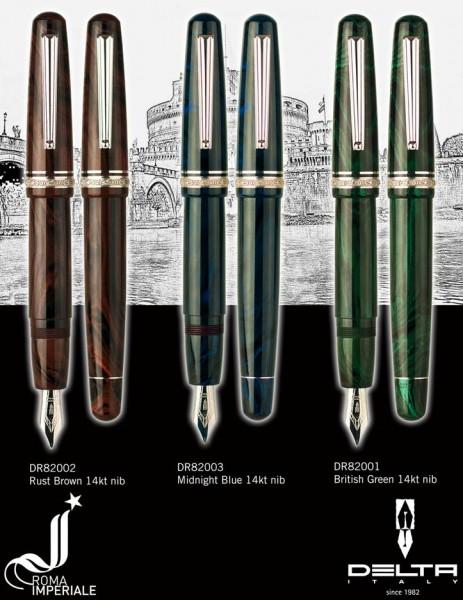 罗马皇家钢笔意大利硬质橡胶笔到 14 金额外大小